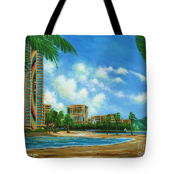 Rainbow Tower Tote Bag