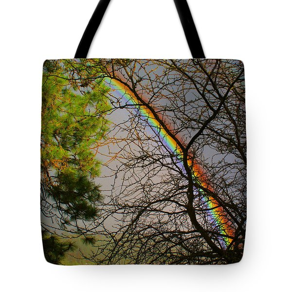 Tote Bag featuring the photograph Rainbow Tree by Ben Upham III