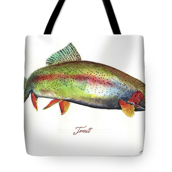 Rainbow Trout Tote Bag by Juan Bosco