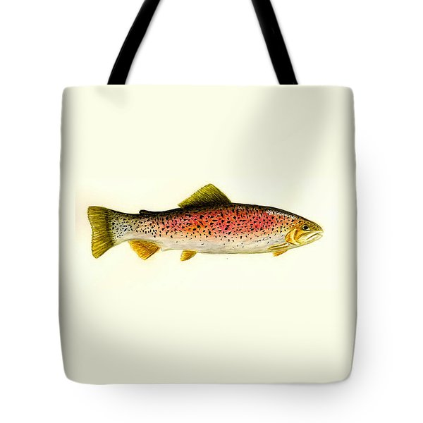 Rainbow Trout Tote Bag by Michael Vigliotti