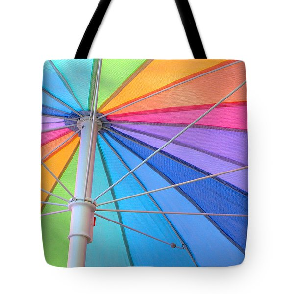 Rainbow Umbrella Tote Bag