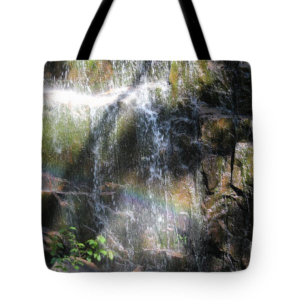 Rainbow Waterfall Tote Bag