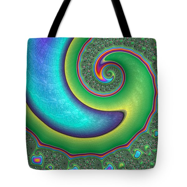 Tote Bag featuring the photograph Rainbow Wave by Ronda Broatch