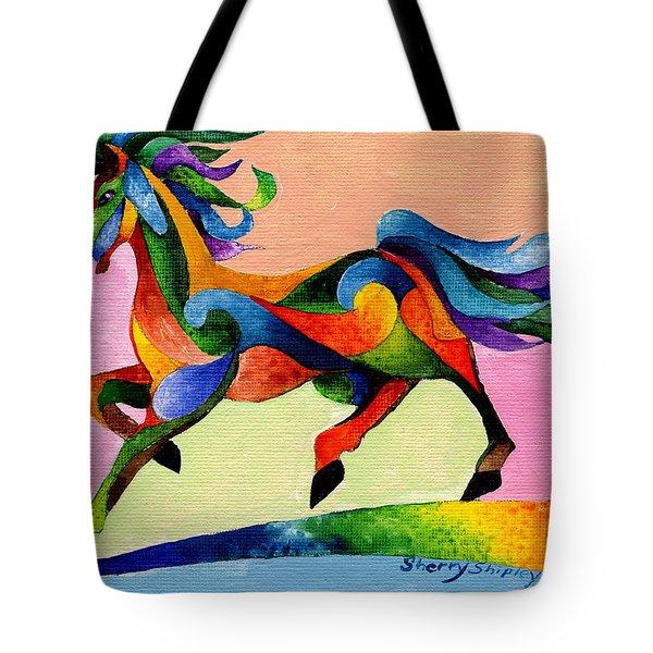 Rainbow Wind Tote Bag