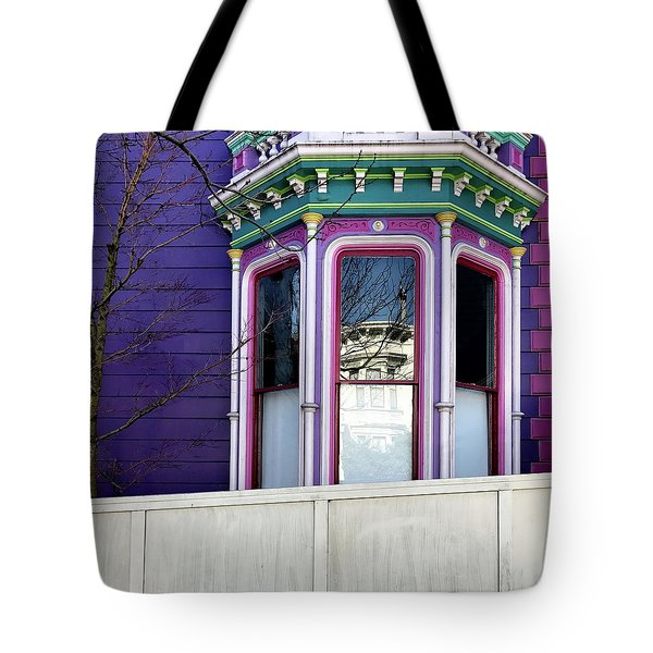 Rainbow Window Tote Bag by Julie Gebhardt