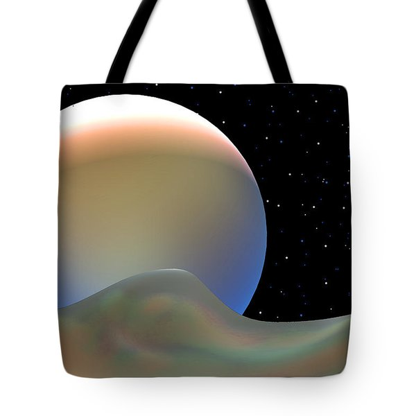 Tote Bag featuring the digital art Rainbow World by Steven Lebron Langston