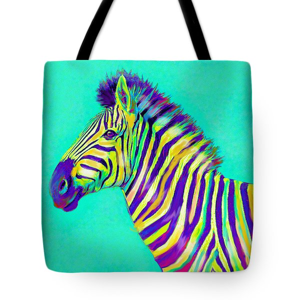 Rainbow Zebra 2013 Tote Bag by Jane Schnetlage