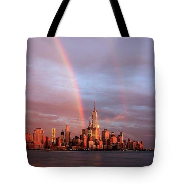Rainbows In Nyc Tote Bag