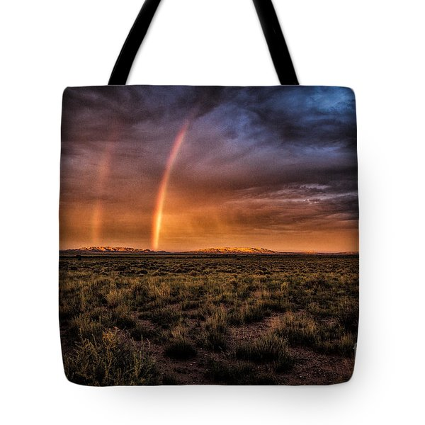 Tote Bag featuring the photograph Rainbows In The Desert  ... by Chuck Caramella