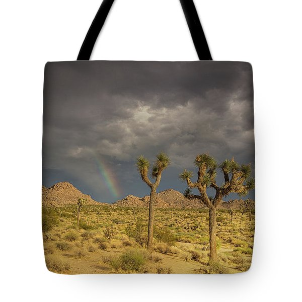 Rainbows Thunderstorms And Sunsets Tote Bag