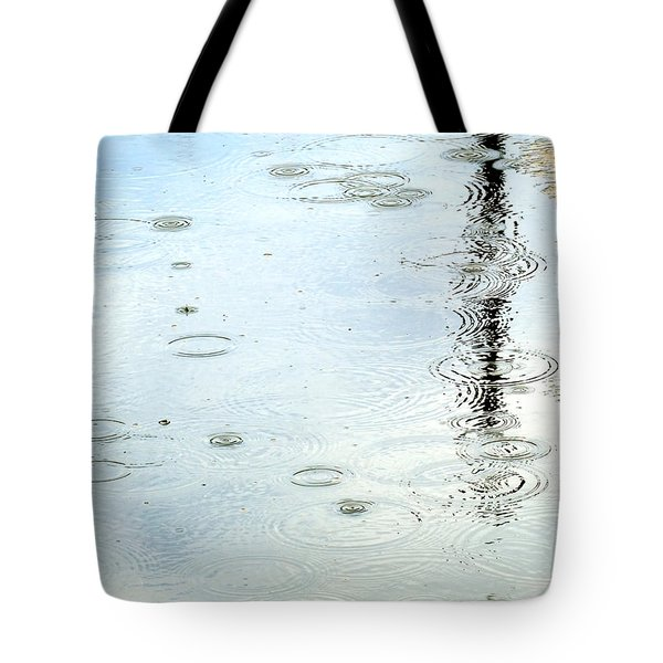 Raindrop Abstract Tote Bag