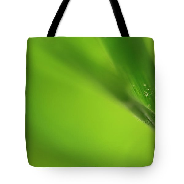 Raindrop On Grass Tote Bag