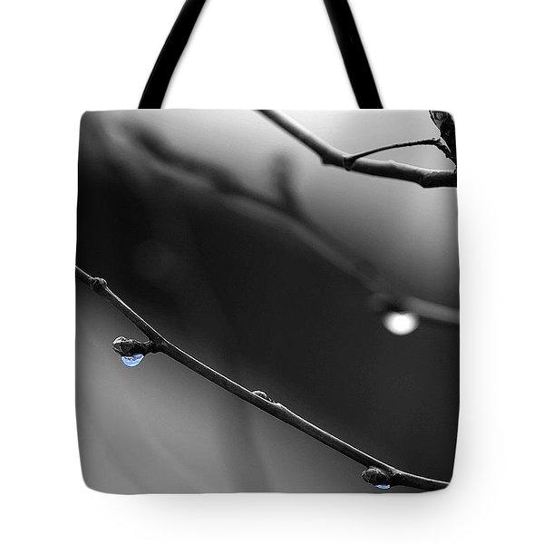 Tote Bag featuring the photograph Raindrops by Angela Rath