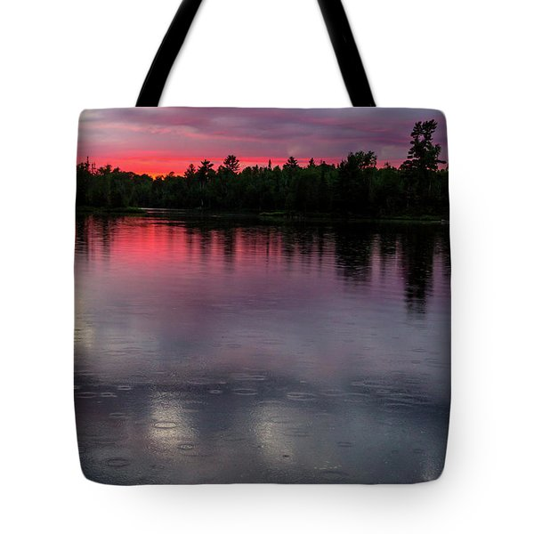 Tote Bag featuring the photograph Raindrops At Sunset by Mary Amerman