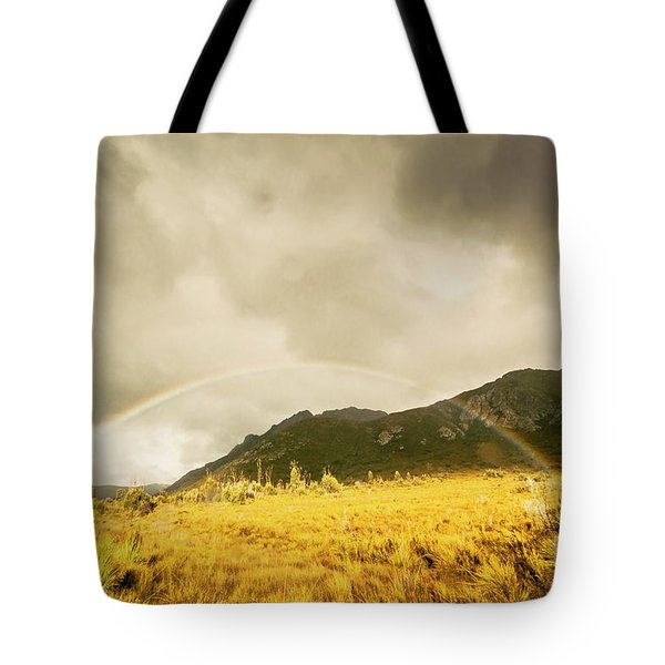 Raindrops In Rainbows Tote Bag