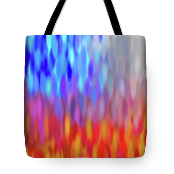 Tote Bag featuring the digital art raindrops No.1 by Tom Druin
