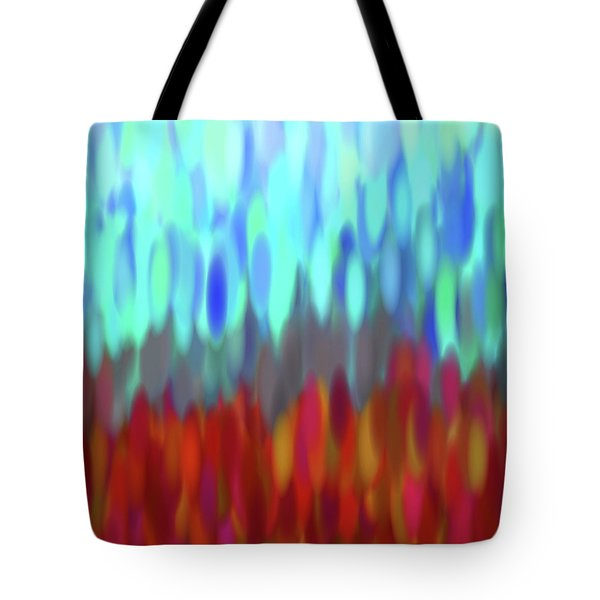 Tote Bag featuring the digital art raindrops No.2 by Tom Druin