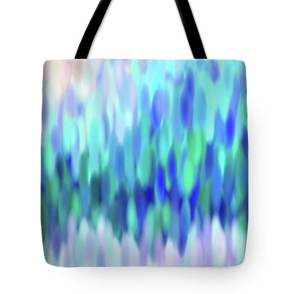 Tote Bag featuring the tapestry - textile raindrops No.3 by Tom Druin
