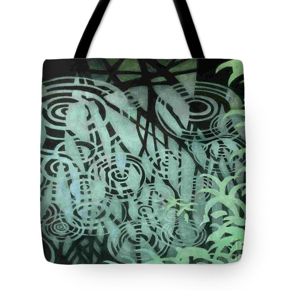 Raindrops-on-raindrops Tote Bag by Anne Havard