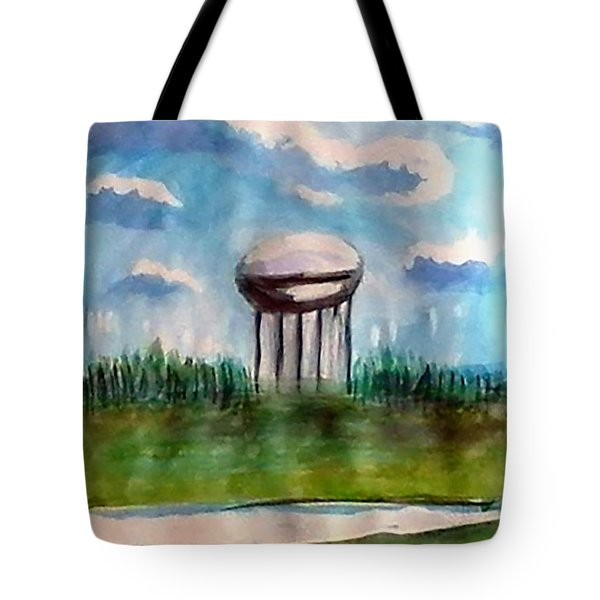 Raines Road Watertower Tote Bag