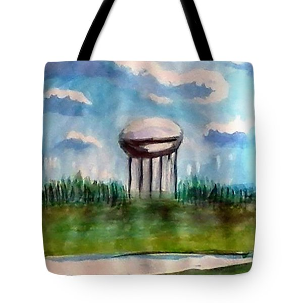 Raines Road Watertower Tote Bag