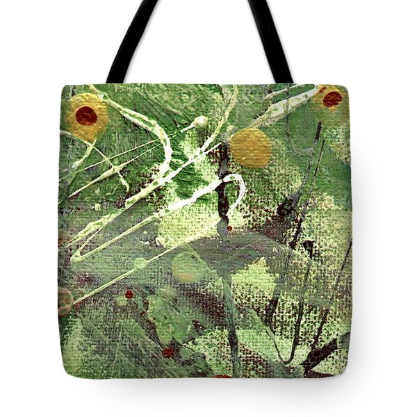 Tote Bag featuring the mixed media Rainforest by Angela L Walker