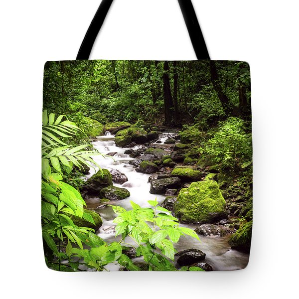 Tote Bag featuring the photograph Rainforest River by David Morefield