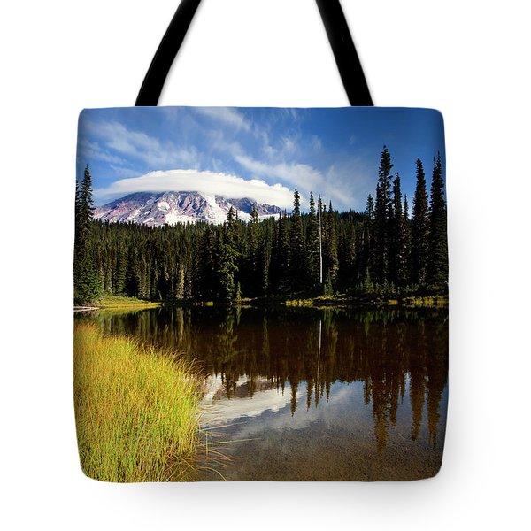 Rainier Capped Tote Bag by Mike  Dawson