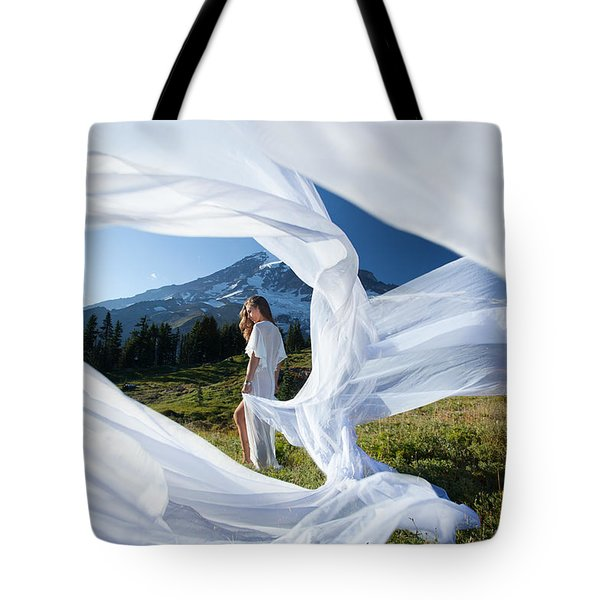Rainier Ribbons Tote Bag by Dario Infini