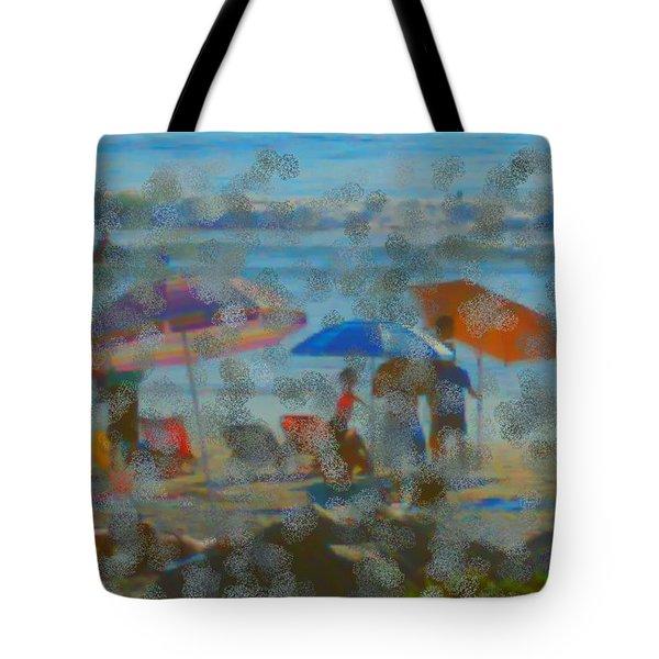 Raining Abstract Tote Bag