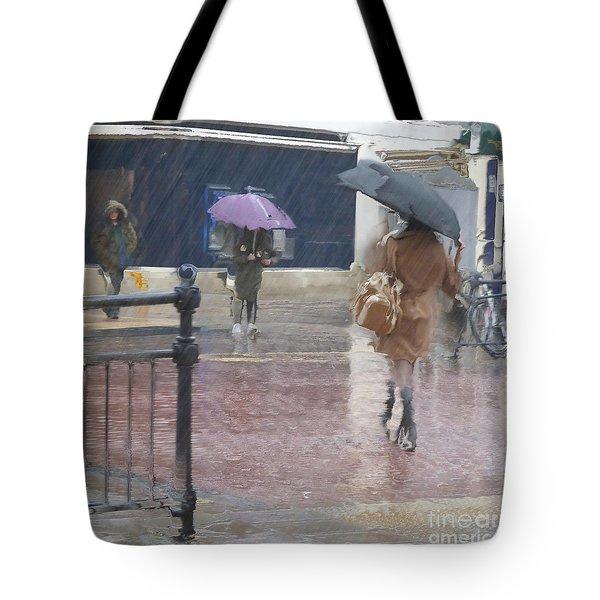 Raining All Around Tote Bag