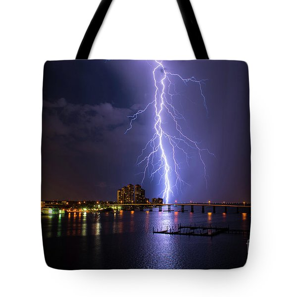 Raining Bolts Tote Bag