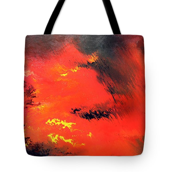 Raining Fire Tote Bag