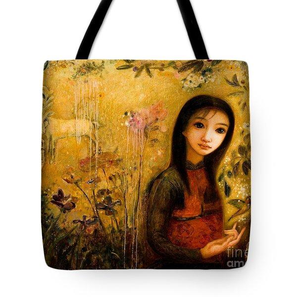 Raining Garden Tote Bag by Shijun Munns