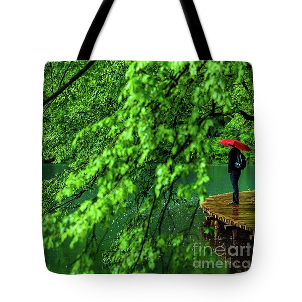 Raining Serenity - Plitvice Lakes National Park, Croatia Tote Bag