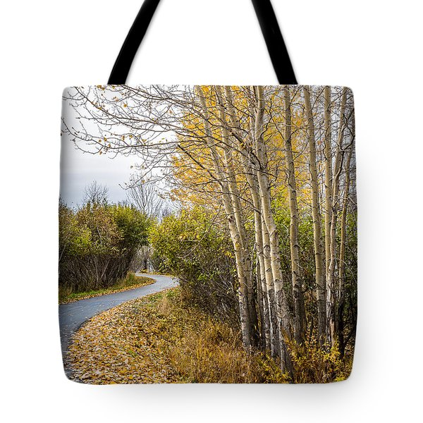 Rainy Autumn Walk Tote Bag
