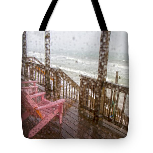 Rainy Beach Evening Tote Bag by Betsy C Knapp