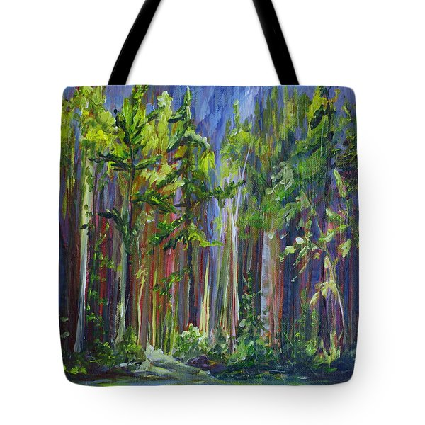 Rainy Day At Nutimik Lake Tote Bag