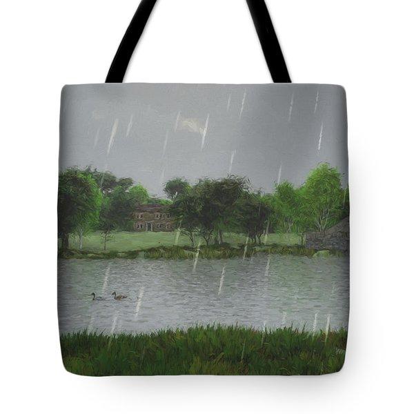 Rainy Day At The Lake Tote Bag