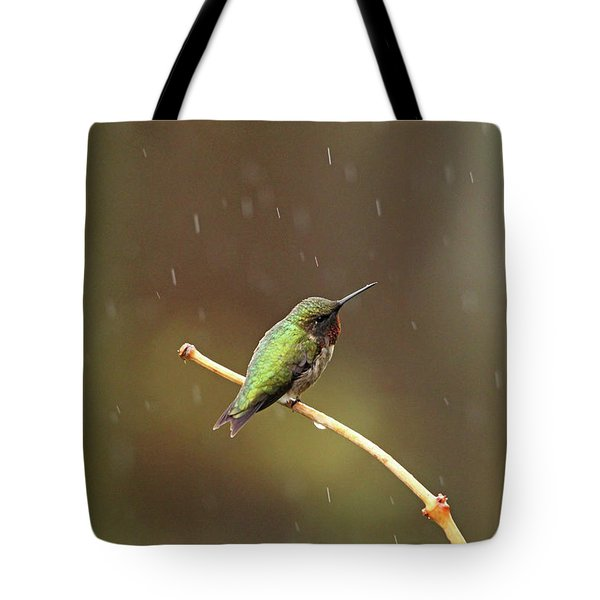 Rainy Day Hummingbird Tote Bag