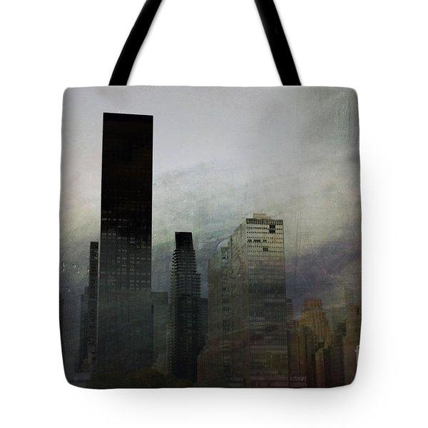 Rainy Day In Manhattan Tote Bag