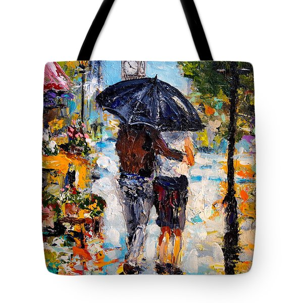 Rainy Day In Olde London Town Tote Bag