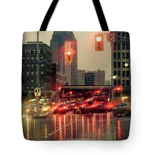 Rainy Day In Ottawa Tote Bag