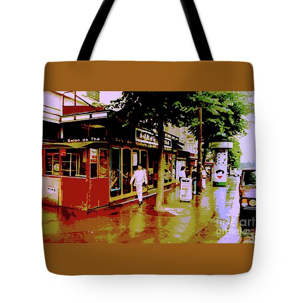 Rainy Day In Paris Tote Bag