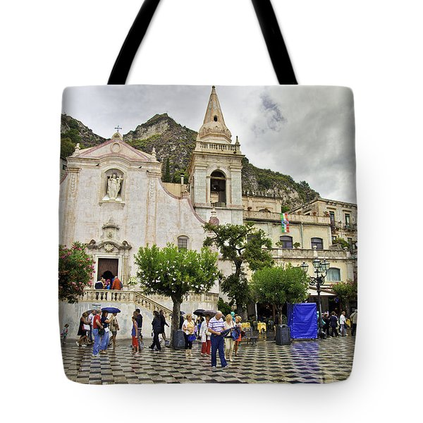 Rainy Day In Taormina 2 Tote Bag by Madeline Ellis