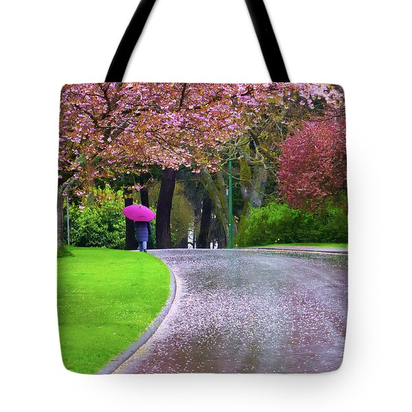 Rainy Day In The Park Tote Bag