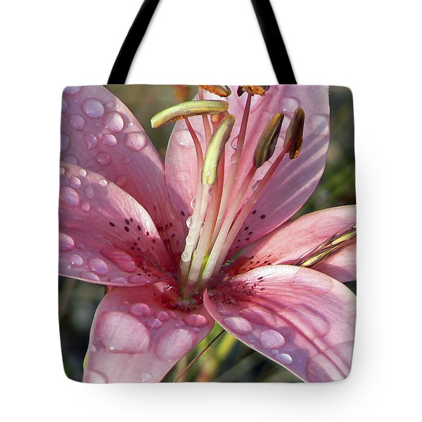 Rainy Day Lily Tote Bag