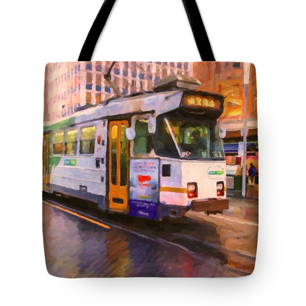 Rainy Day Melbourne Tote Bag