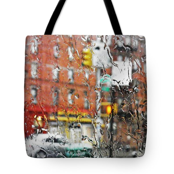 Rainy Day Nyc 2 Tote Bag by Sarah Loft
