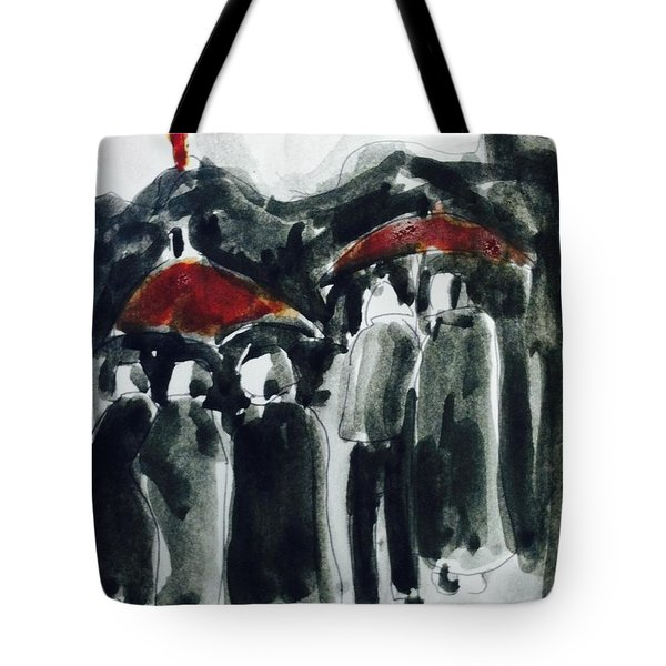 Rainy Day On Street Tote Bag